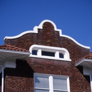 Exterior detail, Baker Sanatorium, Lumberton, Robeson County, North Carolina
