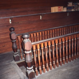 Interior view with stair handrail, McLean-Singleton House, Red Springs, Robeson County, North Carolina