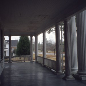 Porch, McLean-Singleton House, Red Springs, Robeson County, North Carolina
