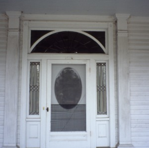 Entrance, McLean-Singleton House, Red Springs, Robeson County, North Carolina