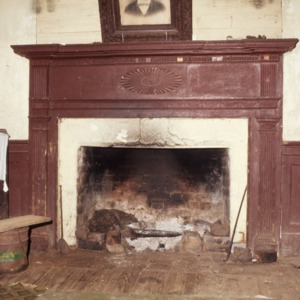 Fireplace, Fewell-Reynolds House, Rockingham County, North Carolina