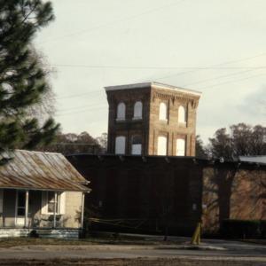 View with tower, Edenton Cotton Mill, Edenton, Chowan County, North Carolina