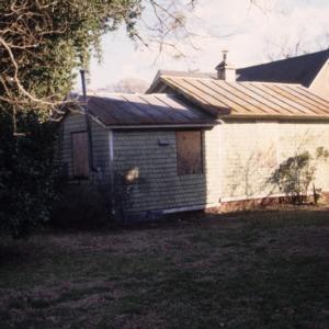 Rear view, 503 McMullan Street, Edenton Cotton Mill Village, Edenton, Chowan County, North Carolina