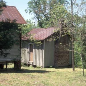 Outbuilding view, Lot 17, Glencoe Mill Village, Glencoe, Alamance County, North Carolina