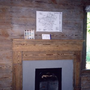 Fireplace, Lot 24, Glencoe Mill Village, Glencoe, Alamance County, North Carolina
