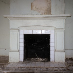 Fireplace, Holt-Heritage House, Glencoe Mill Village, Glencoe, Alamance County, North Carolina