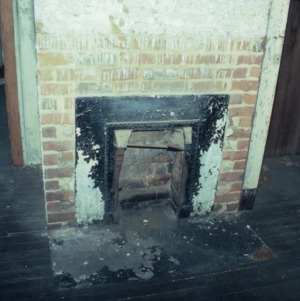 Fireplace, House, Glencoe Mill Village, Glencoe, Alamance County, North Carolina