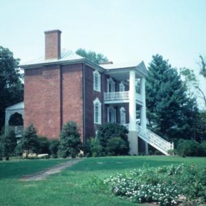 Side view, High Rock Plantation House, Rockingham County, North Carolina