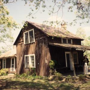 Outbuilding view, Reuben Wallace McCollum House, Reidsville, Rockingham County, North Carolina