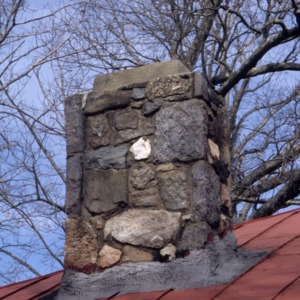 Chimney, Reuben Wallace McCollum House, Reidsville, Rockingham County, North Carolina
