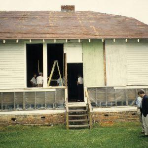 Partial view, Walnut Cove Colored School, Walnut Cove, Stokes County, North Carolina