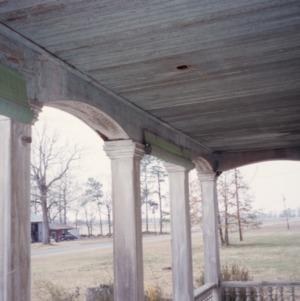 Porch detail, William E. Faison House, Sampson County, North Carolina
