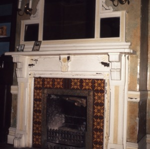 Fireplace, Mistletoe Villa, Henderson, Vance County, North Carolina