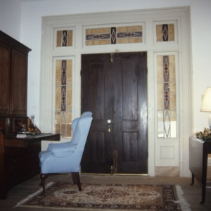 Interior view with door, LaGrange, Vance County, North Carolina