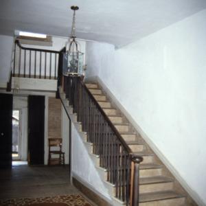 Interior view with stairs, LaGrange, Vance County, North Carolina