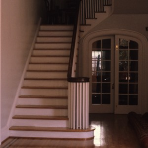 Interior view with stairs, Caveness House, Raleigh, Wake County, North Carolina
