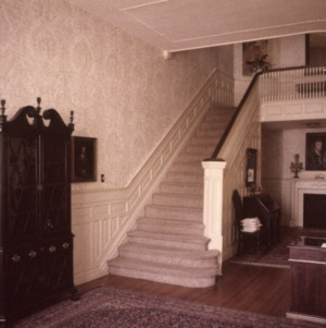 Interior view with stairs, Goodwin House, Raleigh, Wake County, North Carolina