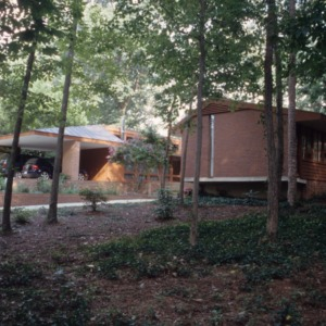 View, Kamphoefner House, Raleigh, Wake County, North Carolina