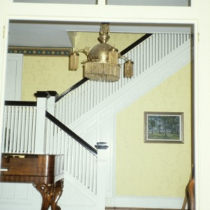 Interior view with stairs, Bishop's House, Raleigh, Wake County, North Carolina