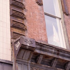 Exterior detail, Briggs Hardware Building, Raleigh, Wake County, North Carolina