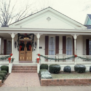 Front view, House, Oakwood, Raleigh, Wake County, North Carolina