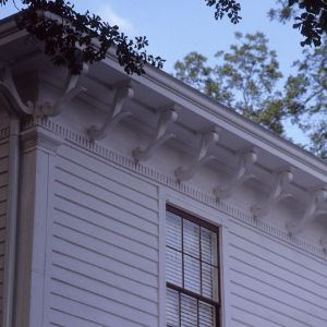 Corner detail, Bagley-Daniels-Pegues House, Raleigh, Wake County, North Carolina