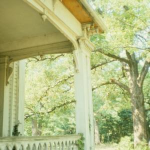 Porch, Oakley Hall, Ridgeway, Warren County, North Carolina