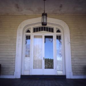 Front door, Oakley Hall, Ridgeway, Warren County, North Carolina