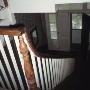 Interior view with stairs, Green-Parker-Tarwater House, Warrenton, Warren County, North Carolina