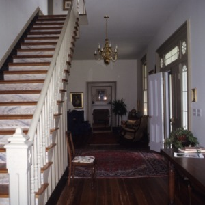Interior view with stairs, Watson House, Warren County, North Carolina