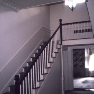 Interior view with stairs, Coleman-White House, Warrenton, Warren County, North Carolina