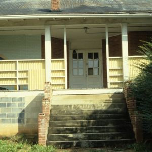 Entrance, Lincoln Heights Rosenwald School, Wilkesboro, Wilkes County, North Carolina