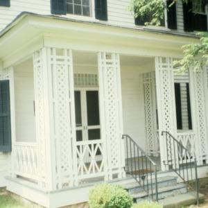 Porch with lattice work, Johnson-Hubbard House, Wilkesboro, Wilkes County, North Carolina