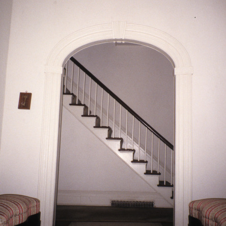 Arch with stairway, Moses Rountree House, Wilson County, North Carolina