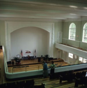 Interior view, Charles L. Coon School, Wilson County, North Carolina