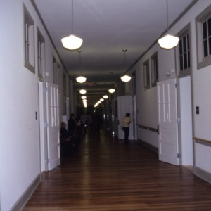 Interior hallway, Charles L. Coon School, Wilson County, North Carolina
