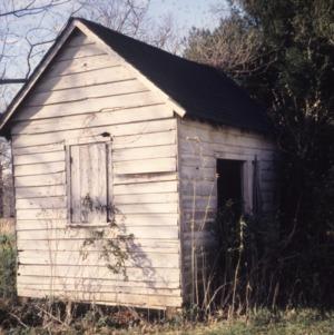 Outbuilding, Durrett-Jarrett House, Yadkin County, North Carolina