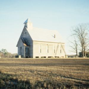 View, Oaky Grove Methodist Church at Shotwell, Oakwood, Raleigh, Wake County, North Carolina