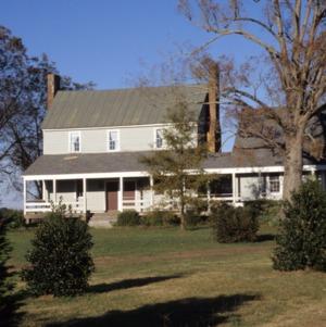 Front view, Alfred Chapman House, Chapman's Chapel, Craven County, North Carolina