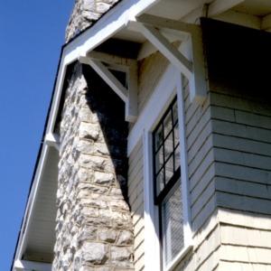 Exterior detail, Dalton House, High Point, Guilford County, North Carolina