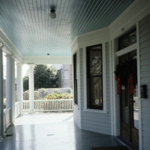Porch, Ferd Ecker House, High Point, Guilford County, North Carolina
