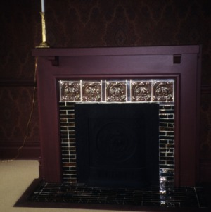 Fireplace, Ferd Ecker House, High Point, Guilford County, North Carolina