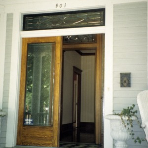 Front door, Ferd Ecker House, High Point, Guilford County, North Carolina