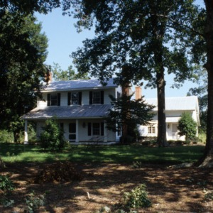 Front view, The Oaks, Whitsett, Guilford County, North Carolina