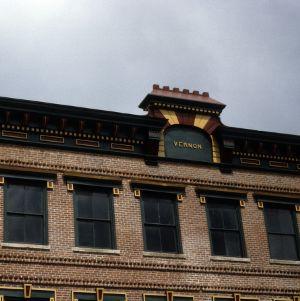 Exterior detail, Vernon Building, Greensboro, Guilford County, North Carolina