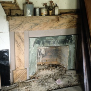 Fireplace, Elihu Mendenhall House, Guilford County, North Carolina