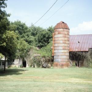 Barn view, Elihu Mendenhall House, Guilford County, North Carolina