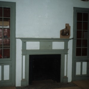 Interior view, Elihu Mendenhall House, Guilford County, North Carolina