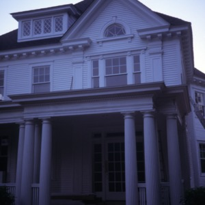 Partial view, McAllister House, Greensboro, Guilford County, North Carolina