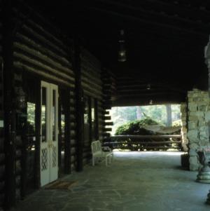 Porch, Timbroley Hollow Lodge, Greensboro, Guilford County, North Carolina